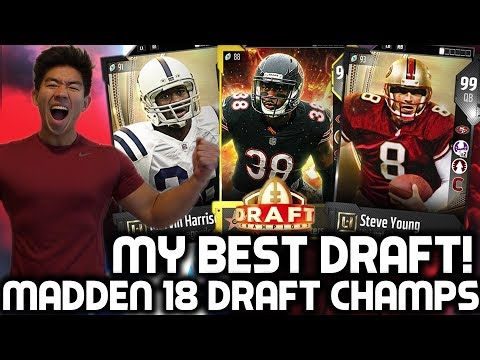 MY BEST DRAFT! BEAST TEAM! Madden 18 Draft Champions