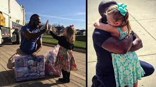 Girl Gives Cupcake To Garbage Man, But 6 Months Later He Returns With A Surprise They Never Expected