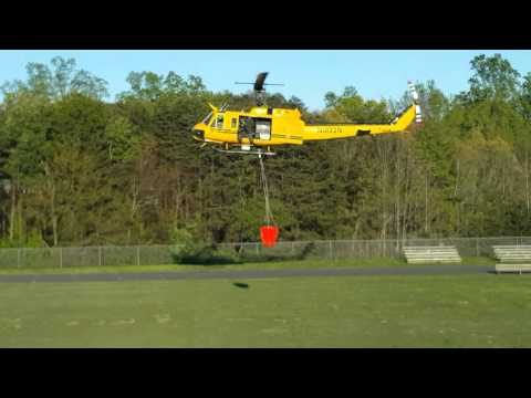 East Burke Middle School And The Forestry Helicopter