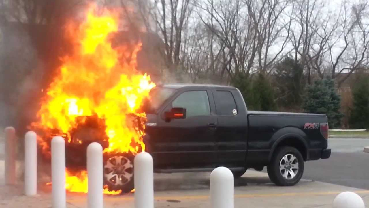 Car Fire Ford F 150 Fx4 Wawa Collegeville Pa 09 12