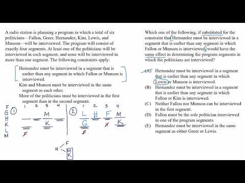 Mixed setup | Rule substitution example | Analytical Reasoning | LSAT | Khan Academy