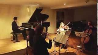 J. Gaechter: Mozart Piano Concerto / Klavierkonzert No.13, KV415, String-Quartet / Streichquartett