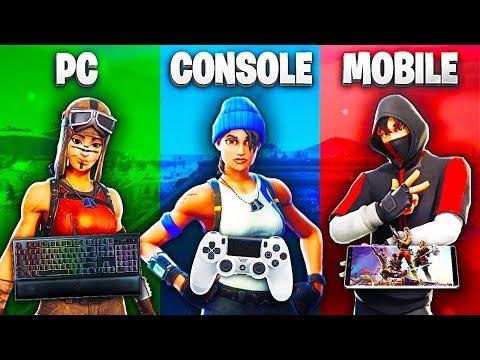 PC vs CONSOLE vs MOBILE - Le migliori giocate su FORTNITE