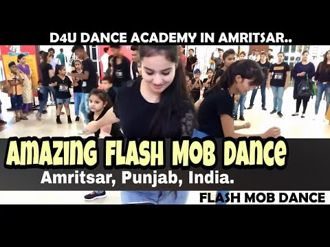 Amazing Flash Mob Dance  Amritsar  Punjab  Trilium Mall  D4U DANCE ACADEMY  9876293021