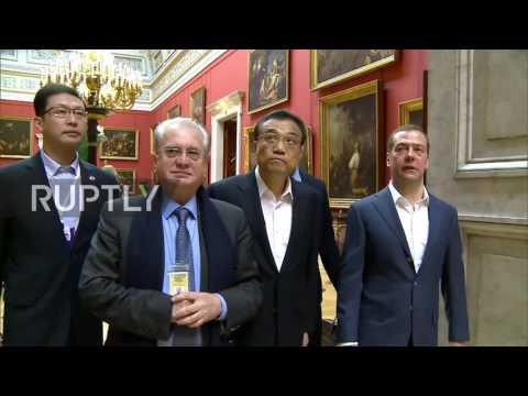 Russia: Medvedev gives Chinese premier guided tour of Hermitage Museum