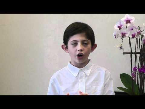 Pablo Rubin-Jurado (Boy soprano) sings Caro mio ben by Giordani