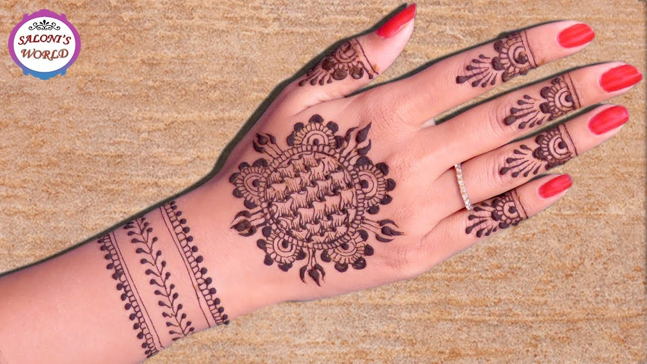 Gol Tikki Mehndi Designs Arabic Henna Henna Tattoo By Jyoti