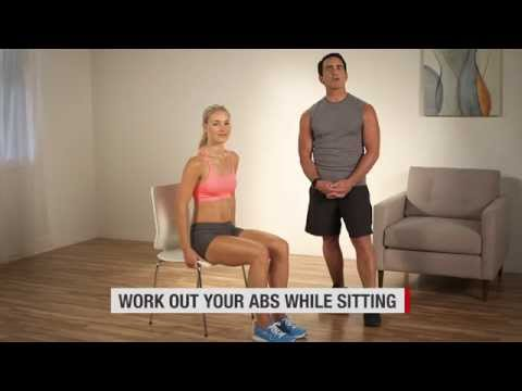 Work Out Your Abs While Sitting