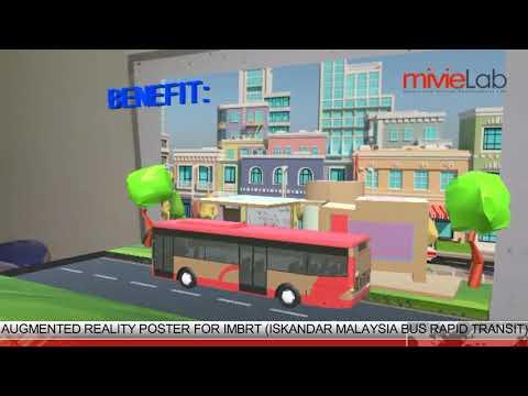 Augmented Reality Poster Advertising Bus Rapid Transit (BRT)