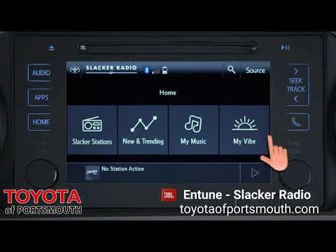 Toyota of Portsmouth Entune - Slacker Radio Setup