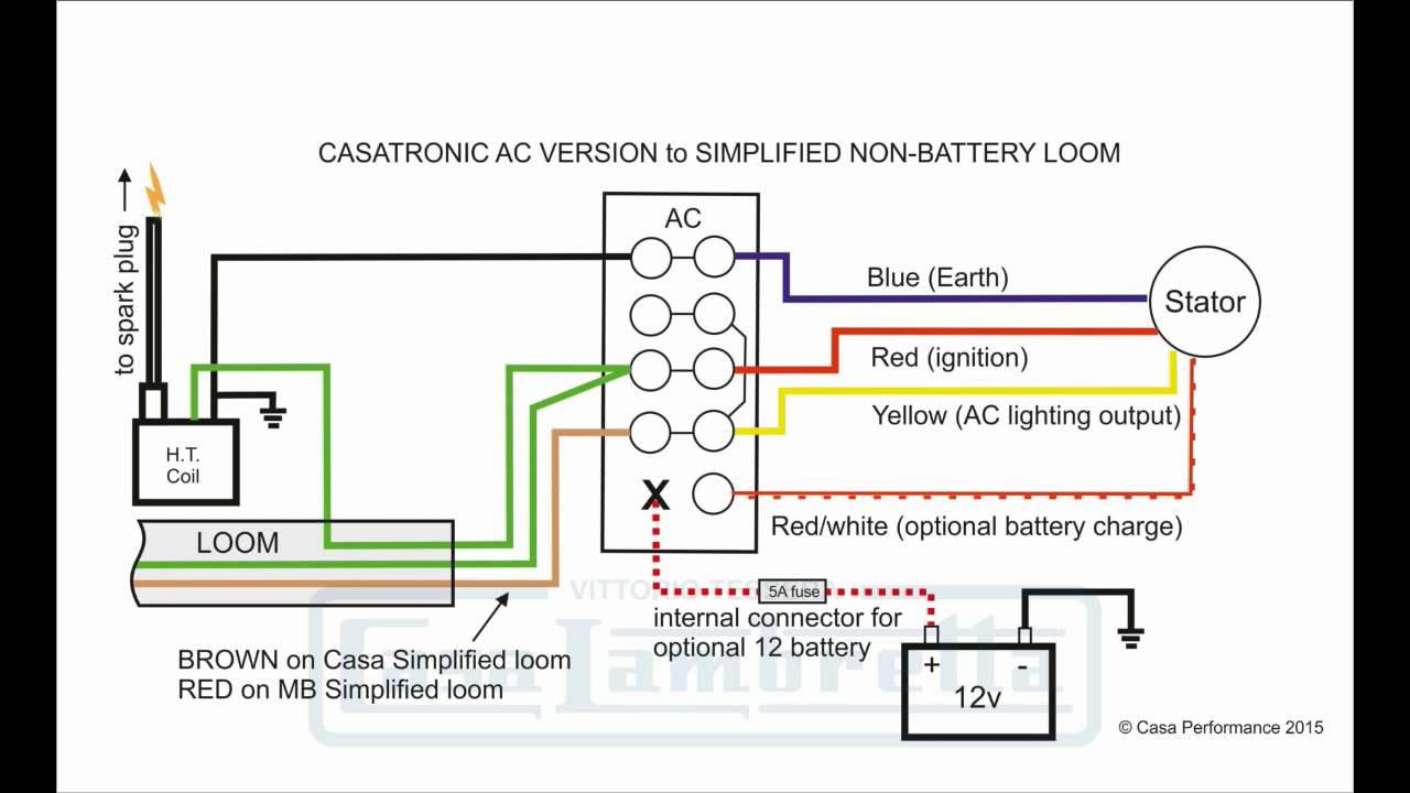 Casatronic Ignition Lambretta Wiring Diagrams (English