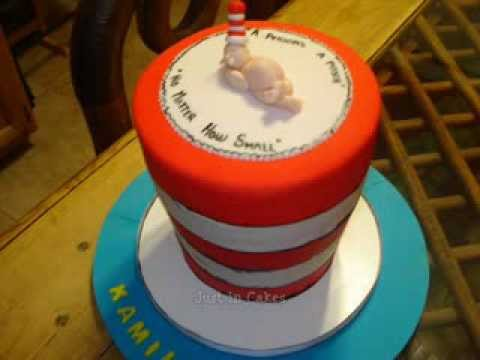 Cat In The Hat Baby Shower Cake Youtube