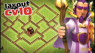 EPIC LAYOUT CV10 FARMING 208 | NEW TH10 FARMING BASE ANTI LAVALOON | CLASH OF CLANS