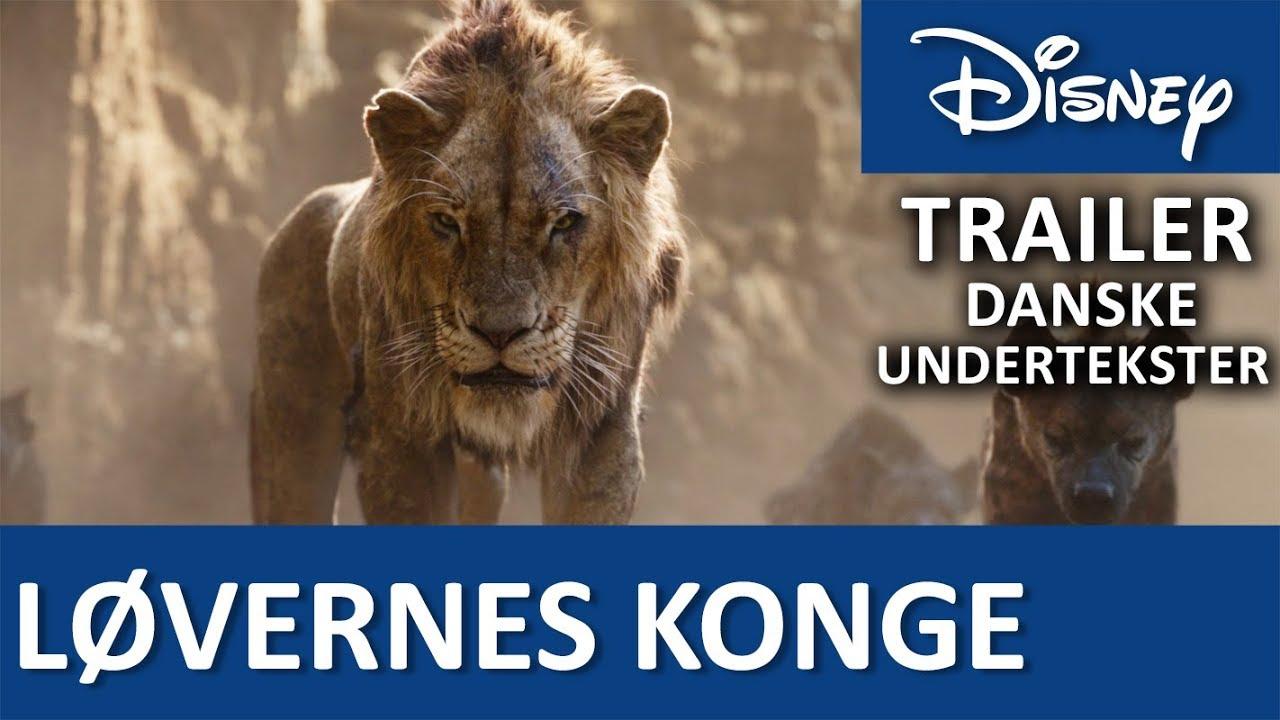 Topmoderne Trailer - Danske undertekster | LØVERNES KONGE - Disney Danmark SG-51