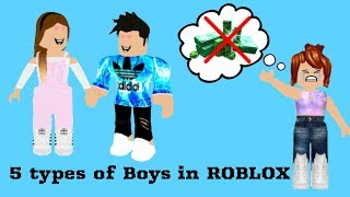 5 Types Of Boys In ROBLOX