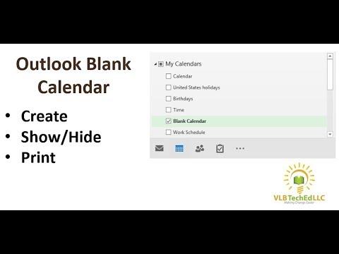 Outlook Blank Calendar Youtube