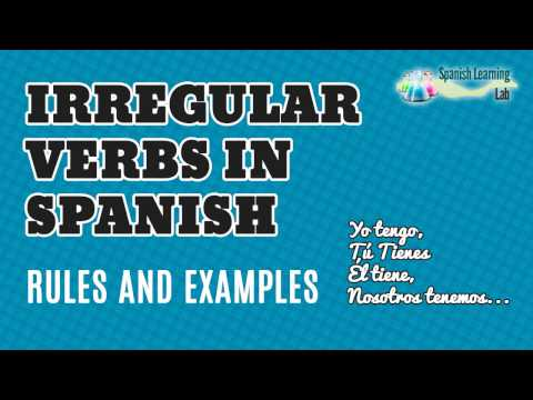 Past simple tense irregular verbs in spanish