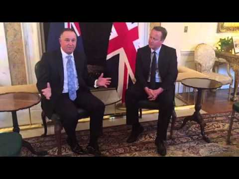 Meeting with UK Prime Minister David Cameron