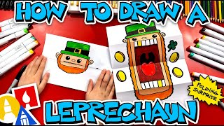 How To Draw A Leprechaun Folding Surprise Puppet