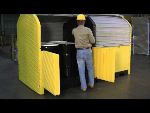 Outdoor Spill Containment - Ultra-Hard Top P8 - UltraTech International, Inc. 904-288-8195
