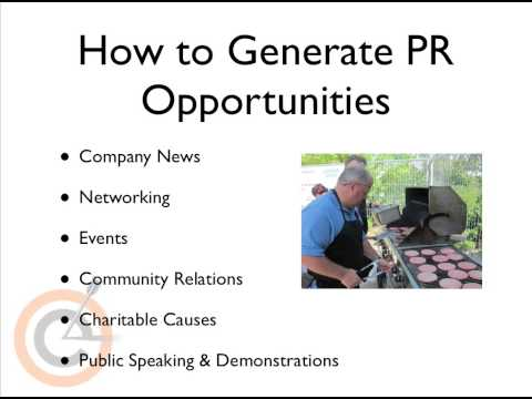 Marketing E-ssentials for Small Business Module 3- Public Relations