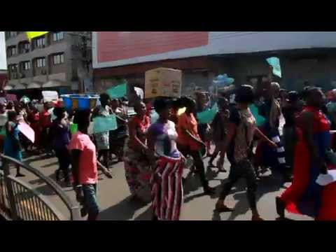 Freetown Traders demonstrate in 2014, Sierra Leone