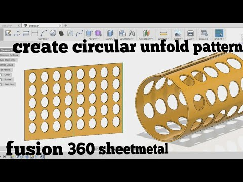 Unfold circular components - fusion 360 sheetmetal tutorial