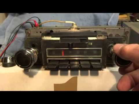 1969 Delco radio for Chevelle Camaro and full sized vehicles YouTube