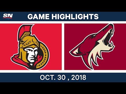 NHL Highlights | Senators vs. Coyotes - Oct. 30, 2018