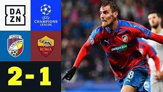 Pilsen sichert Europa League gegen wilde Roma: Pilsen - AS Rom 2:1  | Champions League | Highlights