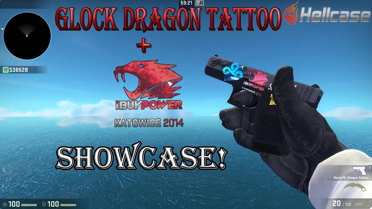 Glock Dragon Tattoo Fn With 9368 Sticker Ibuypower Katowice 14 Holo