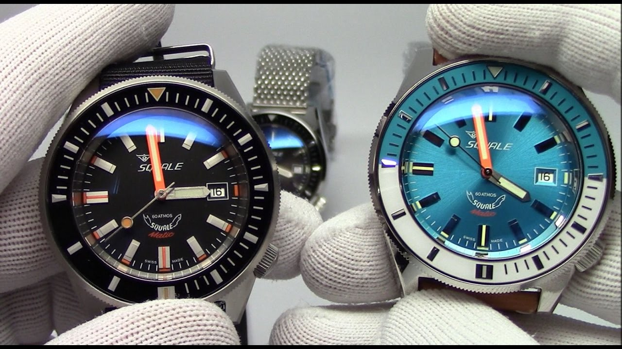 a atmos squale watches black