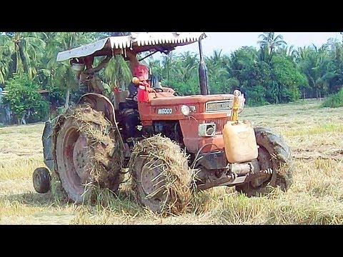 Máy Cày KUBOTA M6000 đang Cuốn Rơm Thì Bị Rớt Mất Tiêu Nhông Tăng đưa Giàn Cuốn / Tractor Vietnam