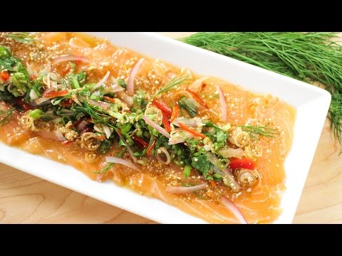 Spicy Salmon Salad (Laab Salmon) ลาบปลาแซลมอน – Hot Thai Kitchen!