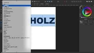Affinity Designer - Teil 6: Objekt mit Texturen füllen und 3D-Effekte erzeugen