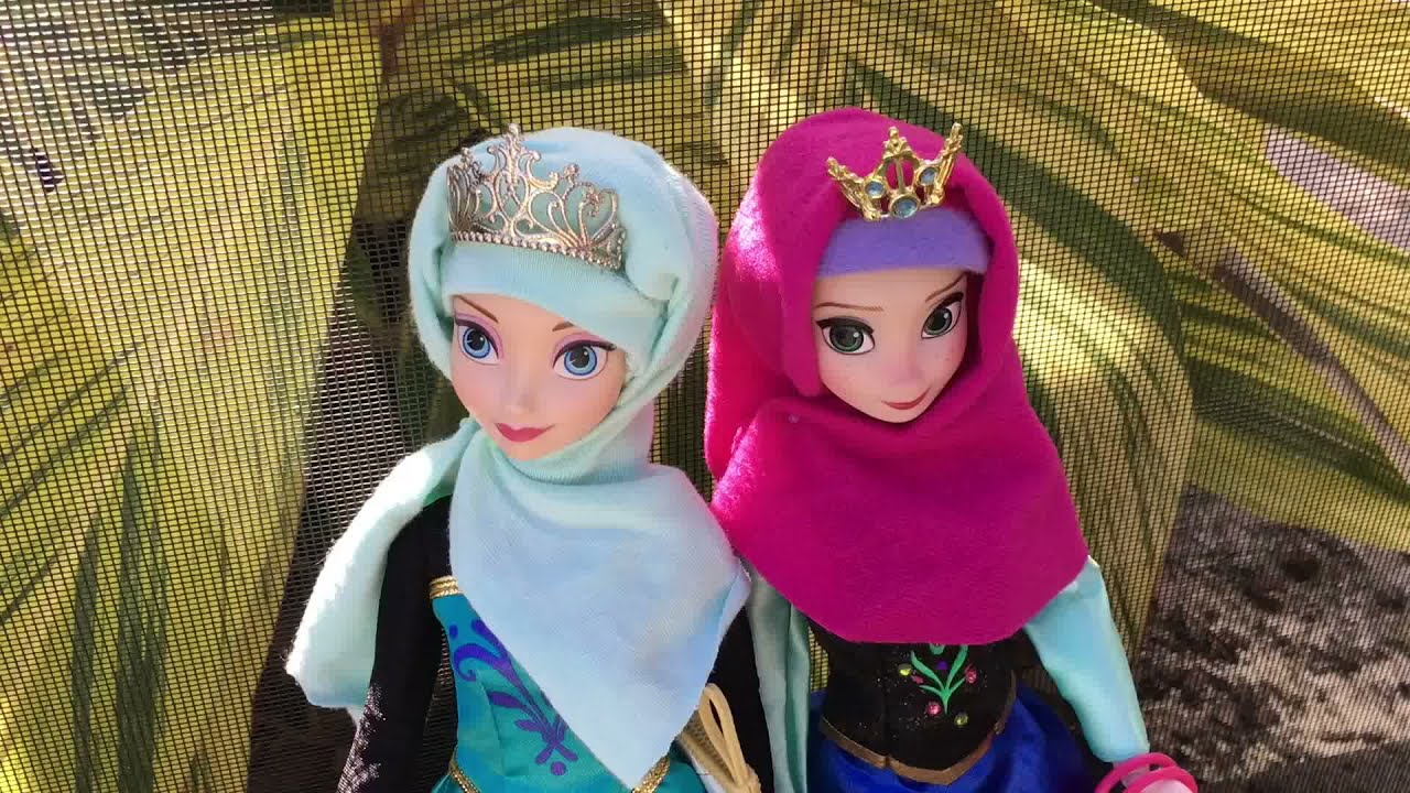 Frozen Muslim Anna Elsa Barbie Dolls Hijab Custom Diy Youtube