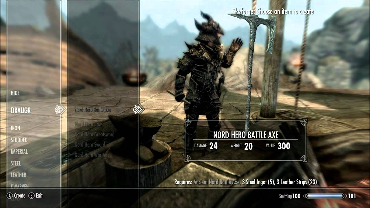 how to make the best weapons and armor skyrim