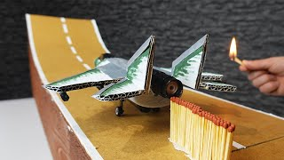 Rocket Powered Jet with Matches Chain Reaction