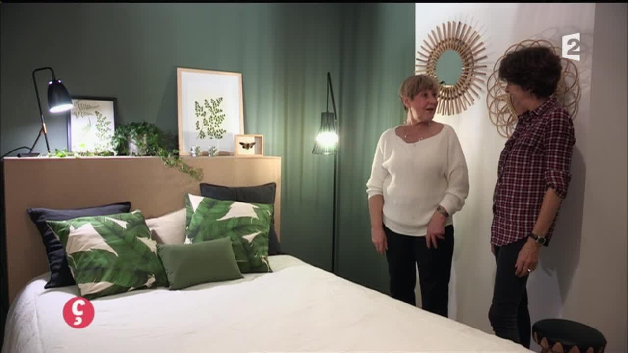 Idee Deco Chambre Vert D\'eau   Chambre Vert D Eau Et Gris