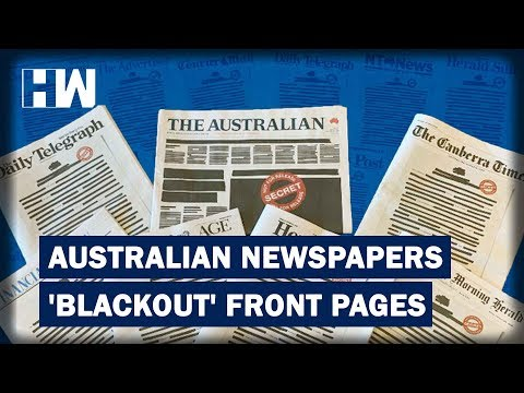 Here's why Australian Newspapers have Blacken their front pages