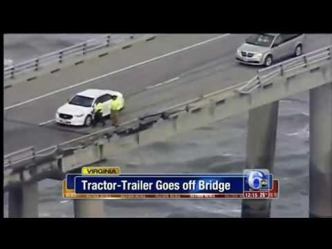 Chesapeake Bay Bridge - Driver dies after truck plunges - 2017