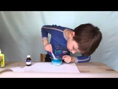 Лизун из клея и тетрабората натрия
