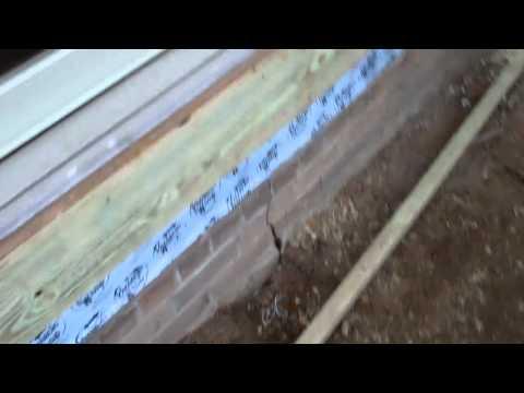 new mud sill rim joist installed