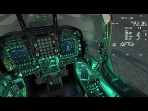 RAZBAM AV-8B N/A for DCS: Flood lamps movement test
