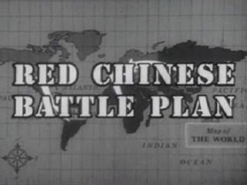 Red Chinese Battle Plan 1964 - Cold War Propaganda