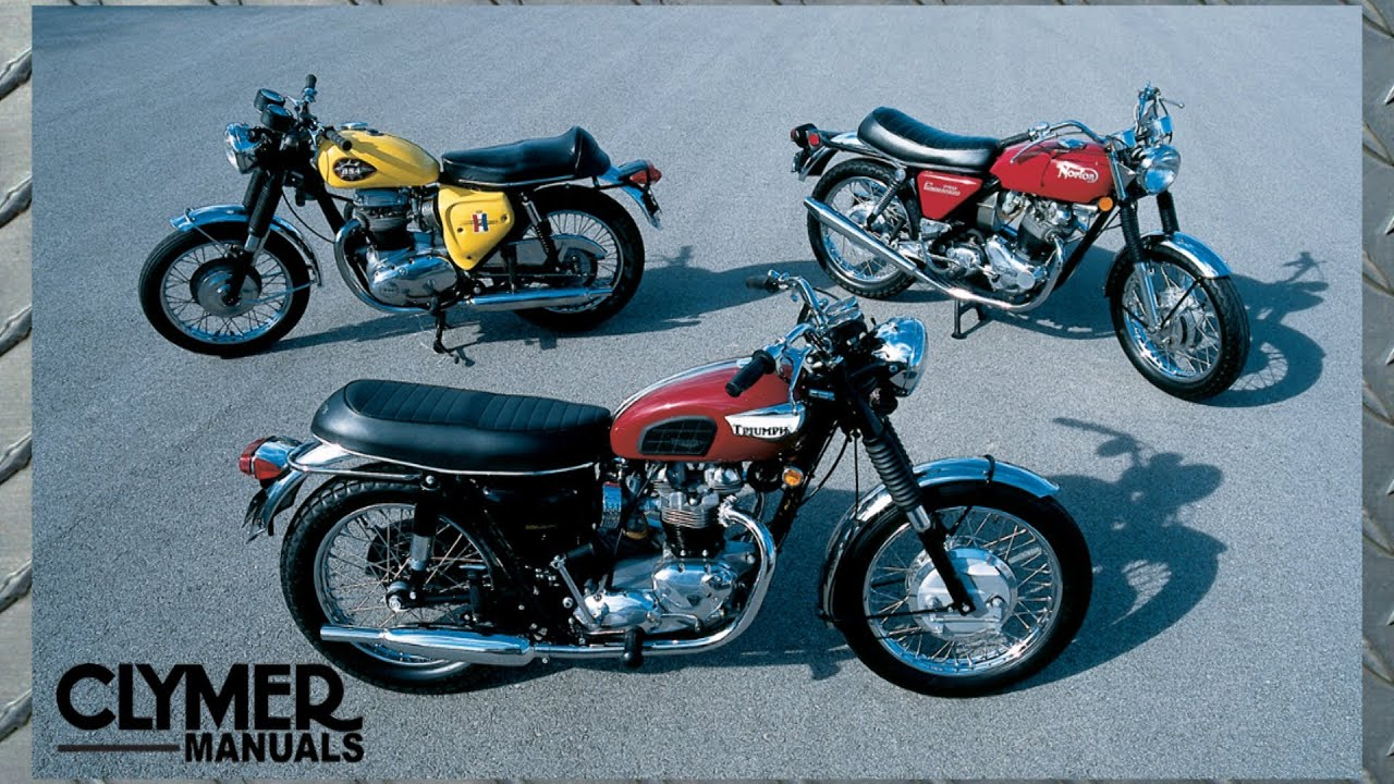 small resolution of clymer collection series vintage bsa norton triumph vintage motorcycle manual video