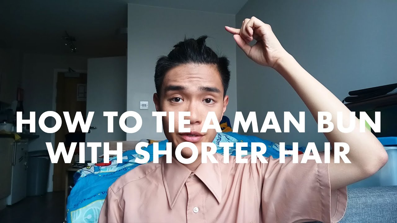 Tutorial how to tie a man buntop know with shorter hair no spray tutorial how to tie a man buntop know with shorter hair no spraygel needed youtube ccuart Gallery