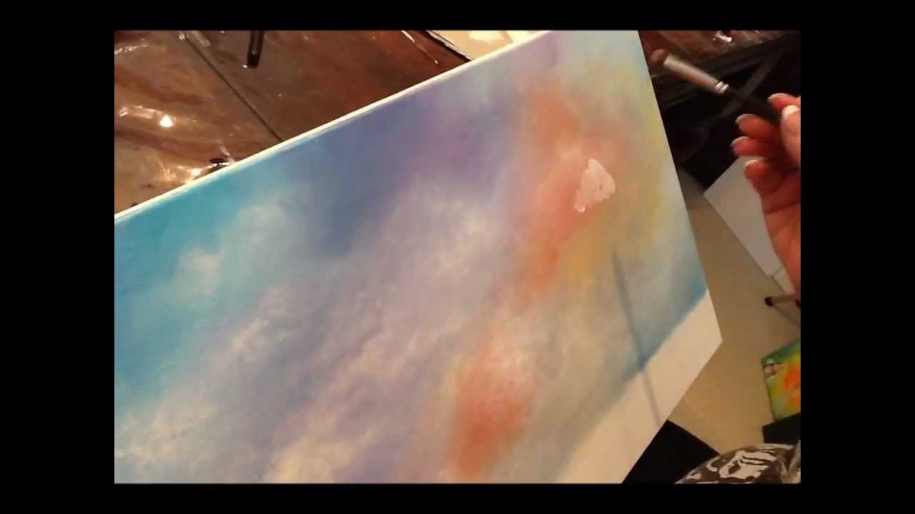 Acrylic painting techniques clouds learn to paint youtube for Learn to paint with acrylics