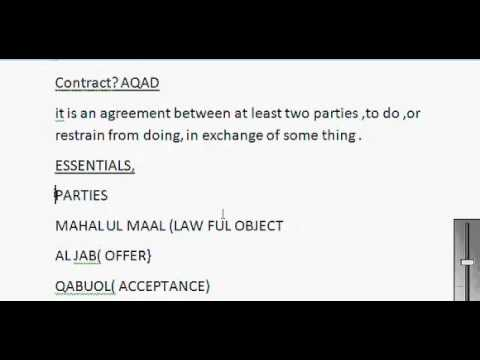 What Is Contract What Are Essentials Of Contract Islamic