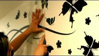 Wall Decals Ambiance Live.com   How To Apply A Sticker With Transfer Film